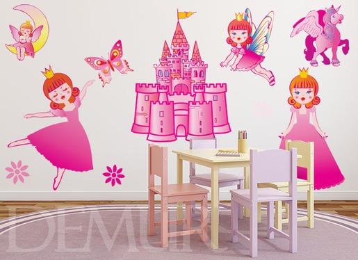 Naklejki dla dzieci - Różowe księżniczki