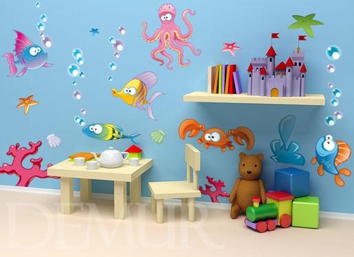 Naklejki dla dzieci - Wesołe akwarium