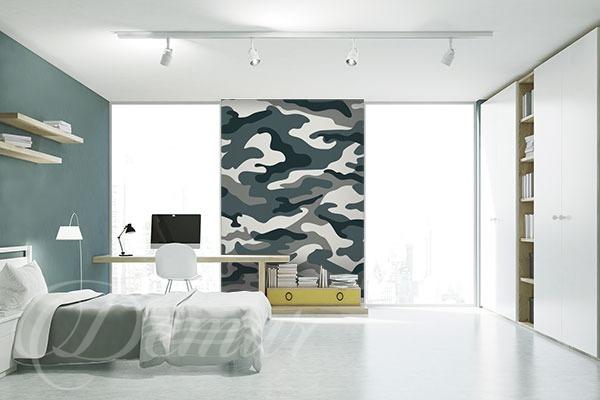 Moc dobrego kamuflażu - pomysł na ścianę w pokoju młodzieżowym