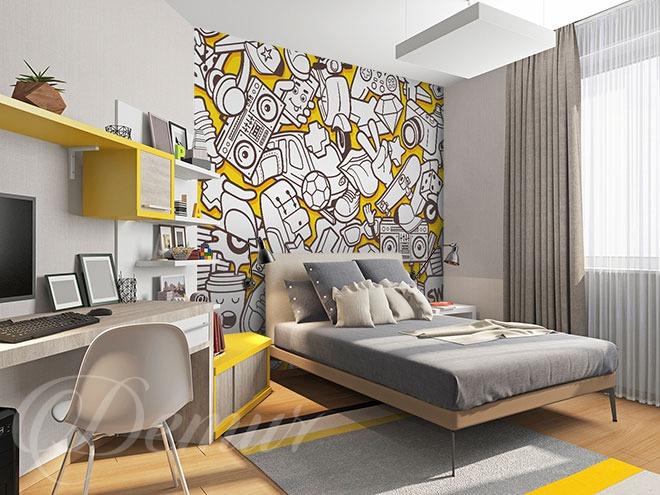 Przez świat w kolorystycznym duecie - pomysł na ścianę w pokoju młodzieżowym