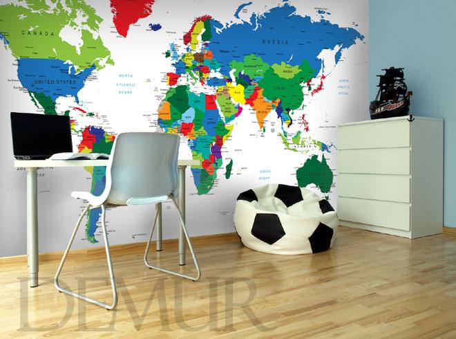 Świat pełen barw - pomysł na ścianę w pokoju młodzieżowym