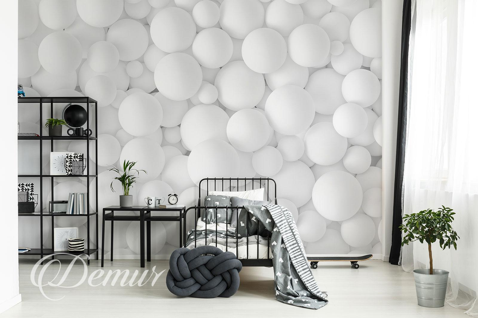 Fototapeta kule 3D - Aranżacja pokoju nastolatka - Demur