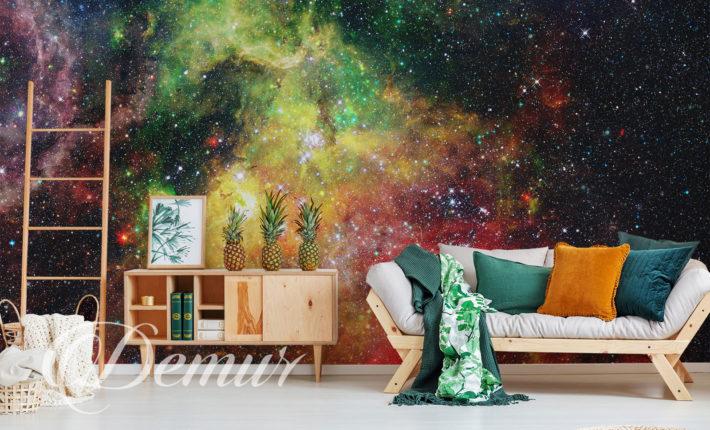 Fototapeta - Kosmos - Pomysł na ścianę w pokoju - Demur