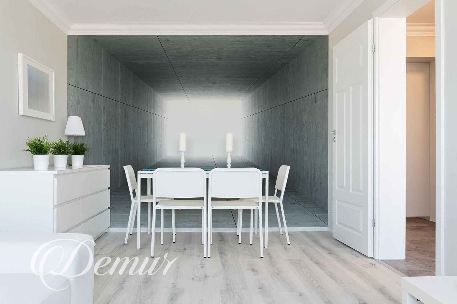 Fototapeta - Betonowy Tunel 3D - Fototapeta do małego salonu - Demur