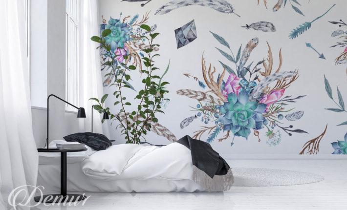 Fototapeta boho - Pomysł na ścianę - Demur