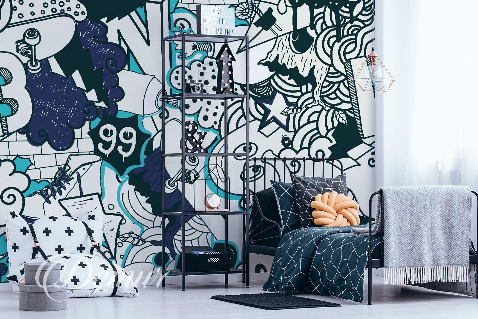 Fototapeta graffiti - Aranżacja pokoju nastolatka - Demur