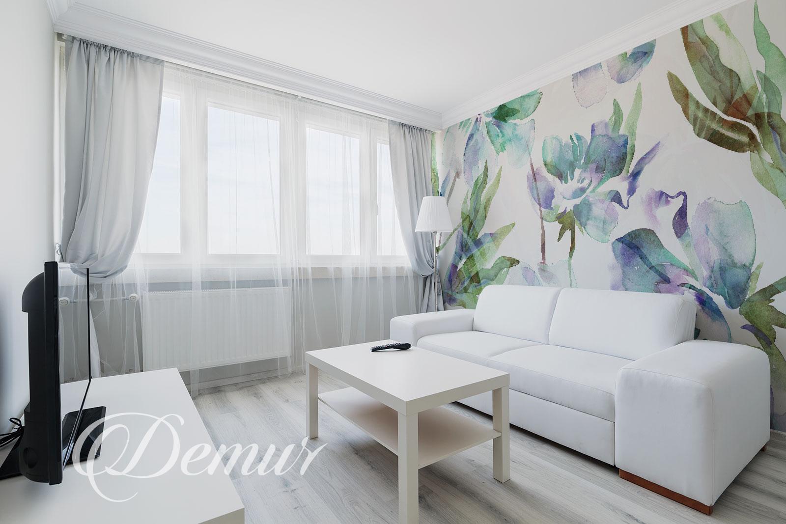 Fototapeta - Kwiaty Akwarele - Fototapeta do małego salonu - Demur
