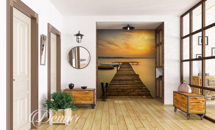 Fototapeta pomost - Pomysł na ścianę w korytarzu - Demur