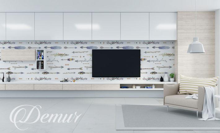 Fototapeta strzały boho - Pomysł na ścianę z telewizorem - Demur