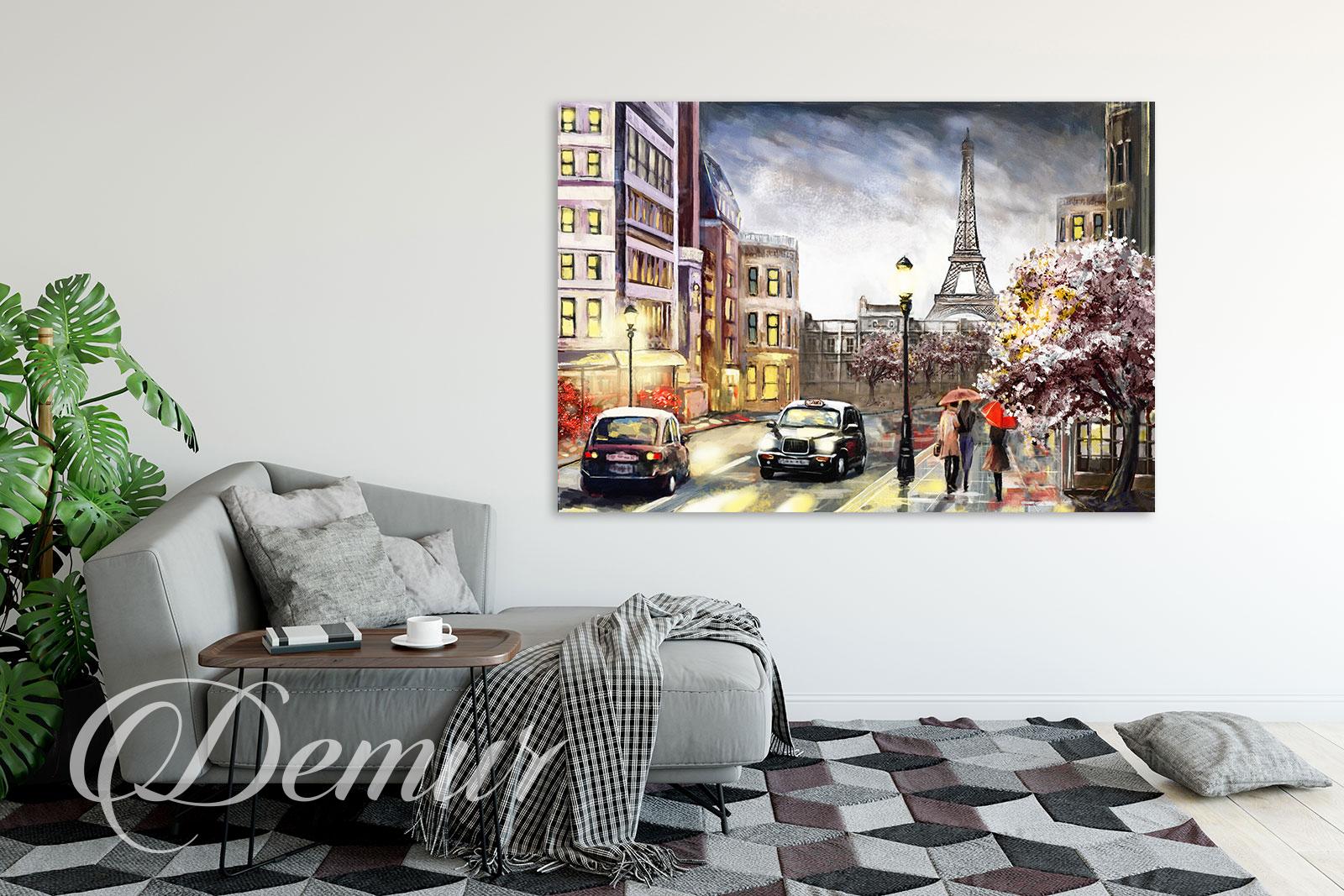 Obraz - Paryż - Pomysł na ścianę w pokoju - Demur