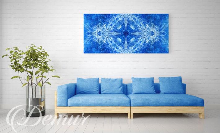 Obraz - Niebieska abstrakcja - Jaki obraz do salonu - Demur