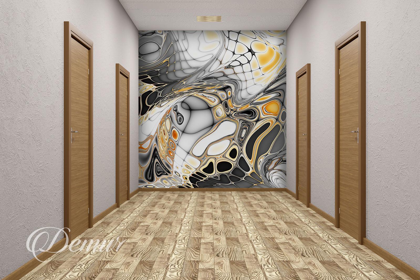 Fototapeta abstrakcja - Pomysł na ścianę w korytarzu - Demur