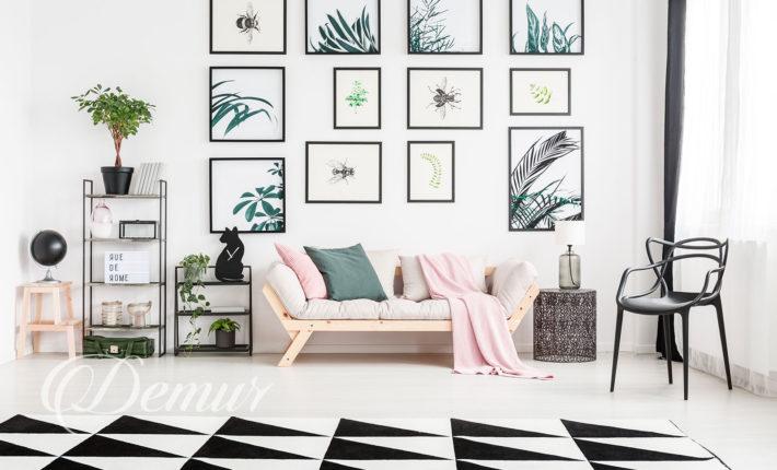 Kwiatowe zdjęcia na ścianie pomysły - Demur