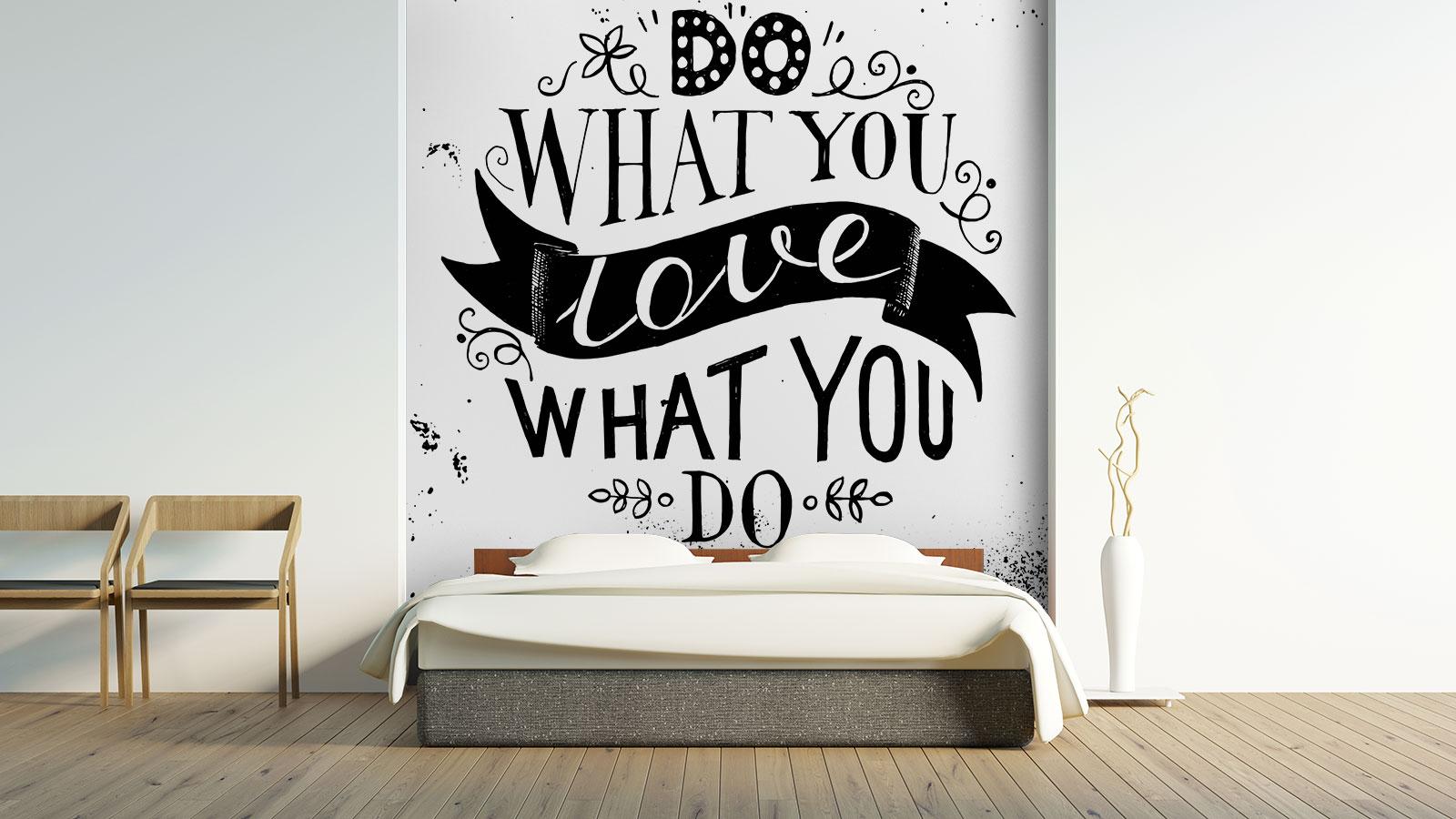 Fototapeta Życiowe Motto - Pomysł na ścianę z napisami - Demur