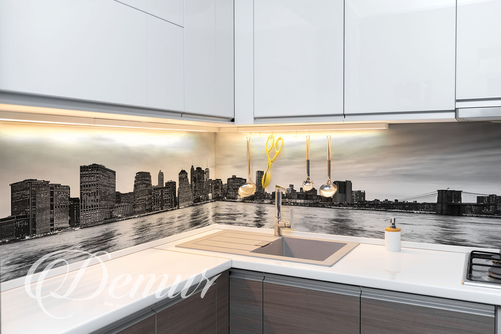Fototapeta miejska panorama - Fototapety do kuchni zmywalne - Demur
