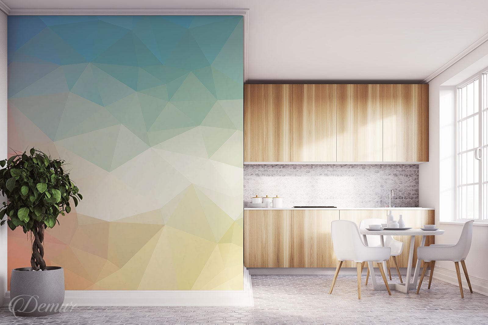 Fototapeta Pastelowa Geometria - Fototapety do kuchni laminowane - Demur