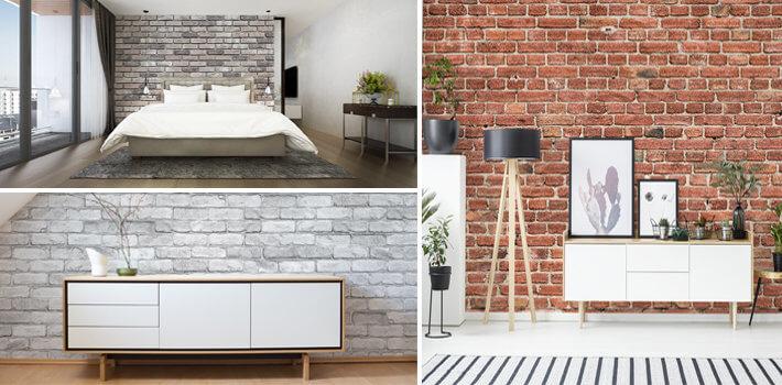 Pomysł na ścianę z cegły - Demur