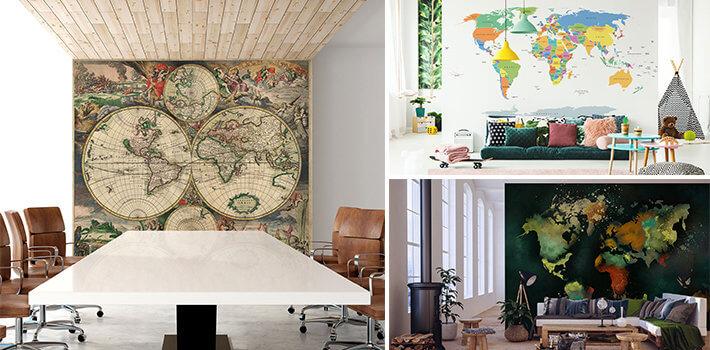 Fototapety z mapą świata - Demur