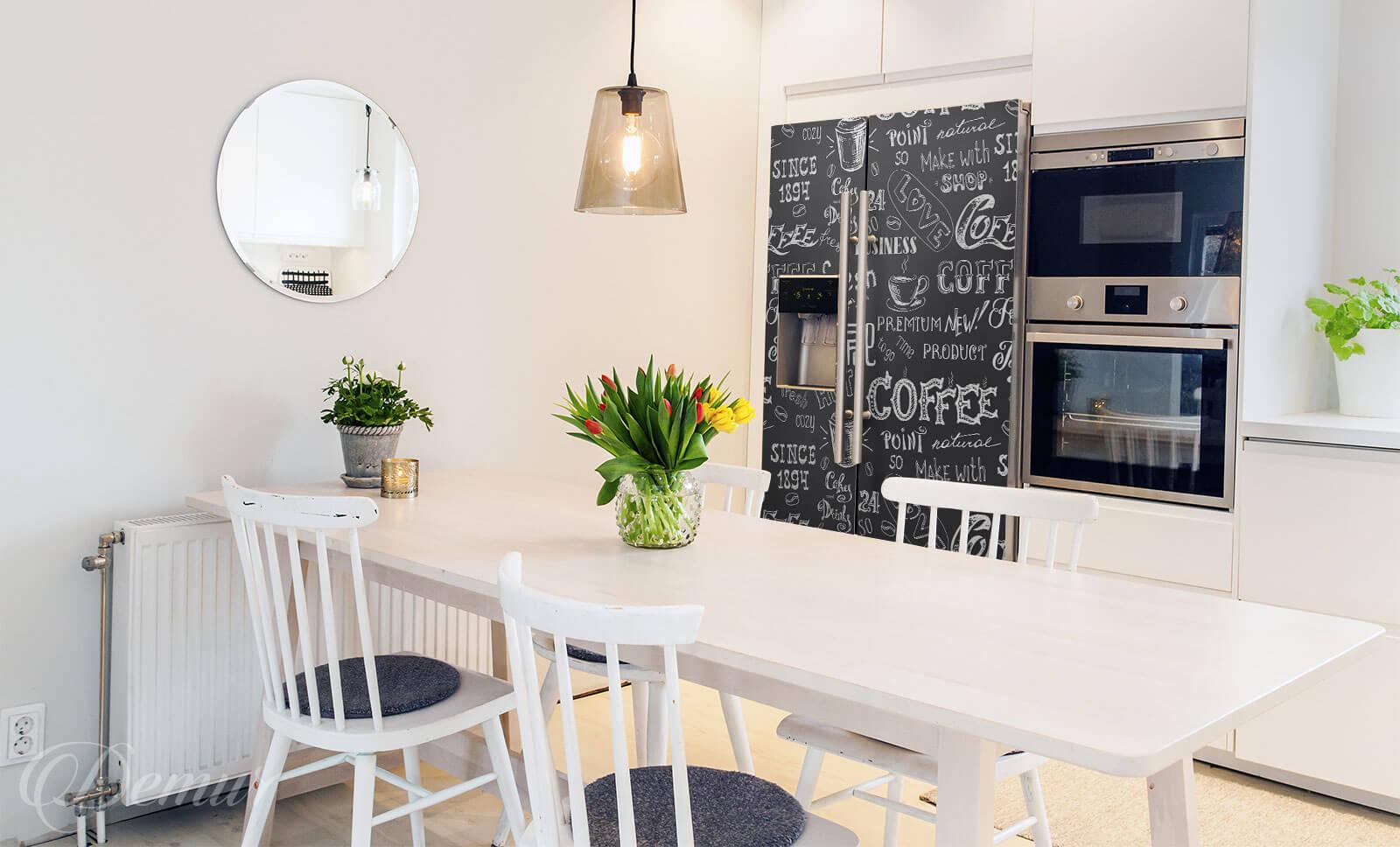 Naklejka Czas na kawę - Naklejka na lodówkę - Demur