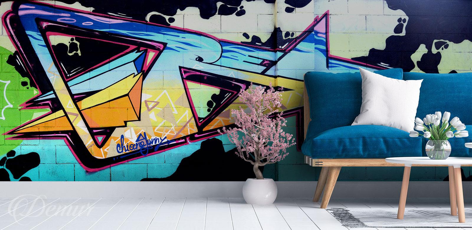 Fototapeta Styl w sprayu - Fototapeta graffiti - Demur