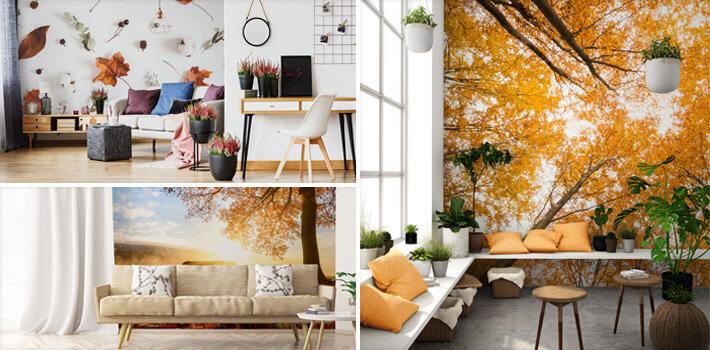 Aranżacje na jesień - Jesienna Fototapeta - Demur