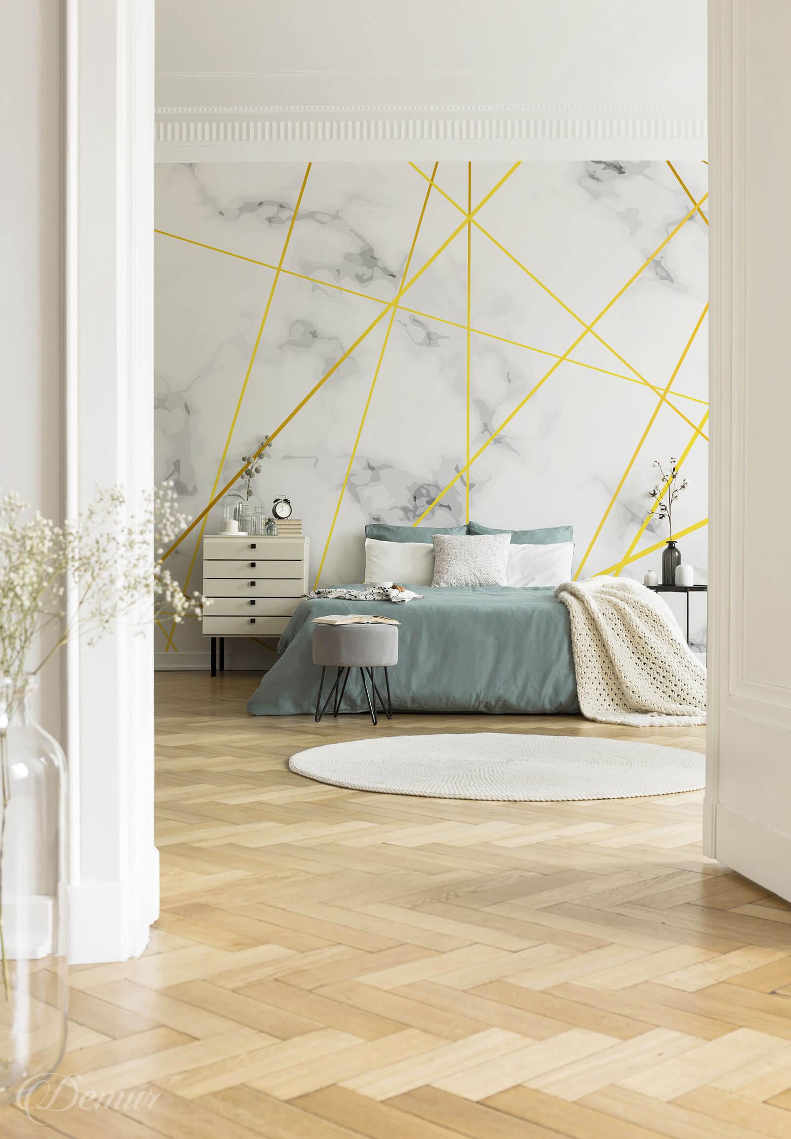Fototapeta marmurowa geometria - Fototapeta w sypialni - Demur