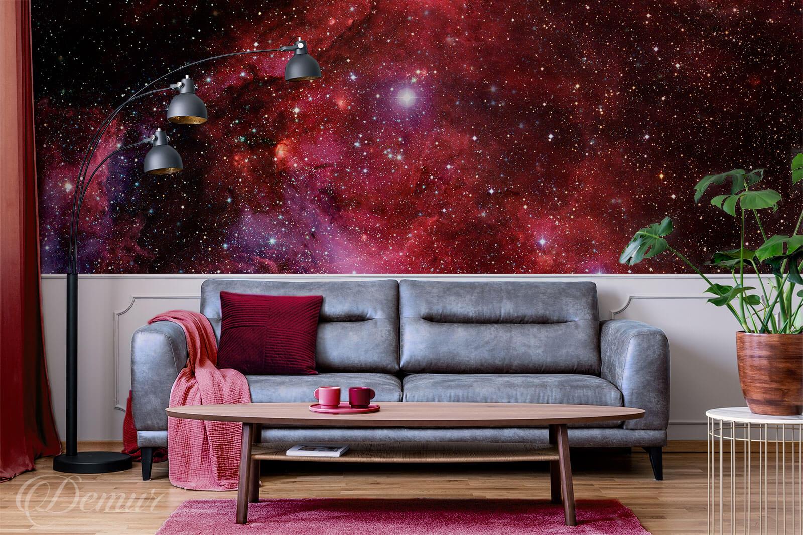 Fototapeta Burgundowy kosmos - Burgundowa fototapeta - Demur