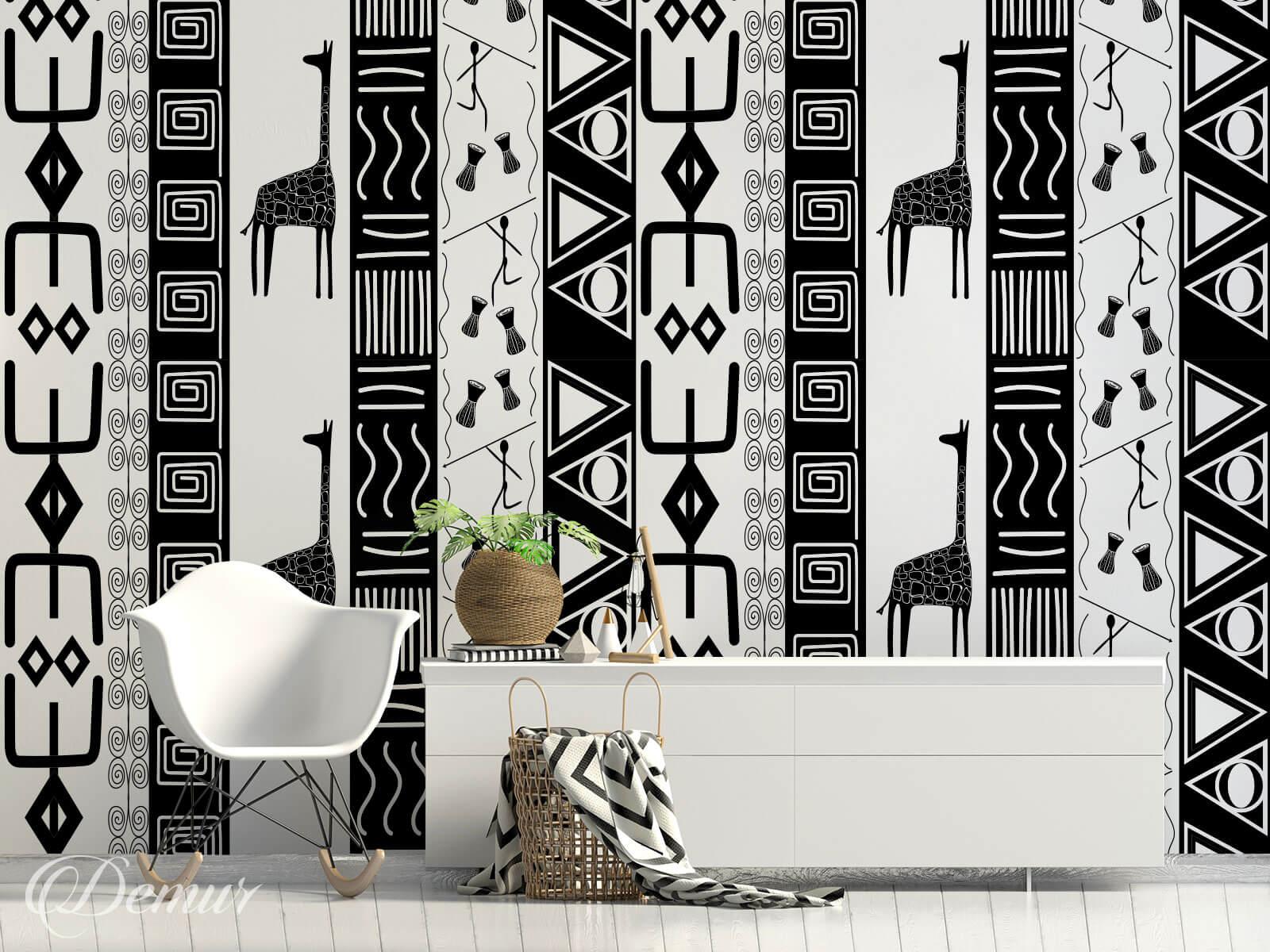 Fototapeta Afrykański wzór - Fototapeta afryka - Demur