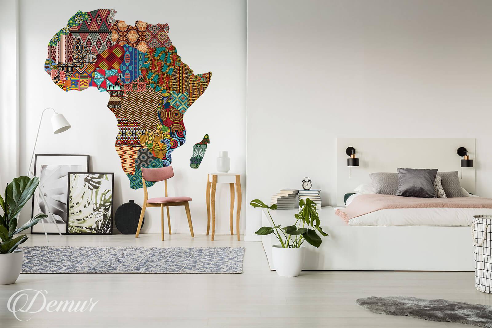Fototapeta Mapa Afryki - Fototapety Afryka - Demur