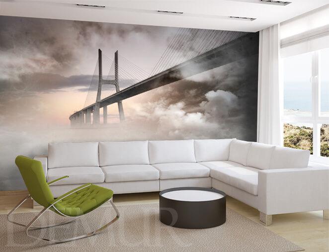 Fototapeta Most we mgle - Modne dekoracje - Demur