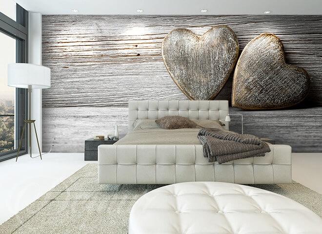 Fototapeta Serce w drewnie - Modne dekoracje - Demur