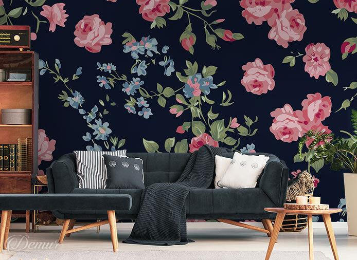 Fototapeta Róże – klasyczne retro - Fototapety z kwiatami - Demur