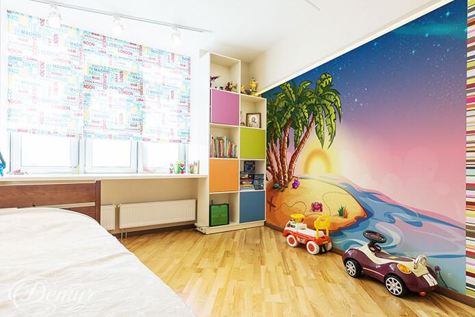 Fototapeta Tropikalna wyspa szczęśliwości - Fototapeta do pokoju dziecka - Demur