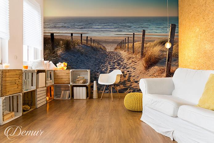 Fototapeta Podróż po piaszczystej plaży - Fototapeta z pejzażem - Demur