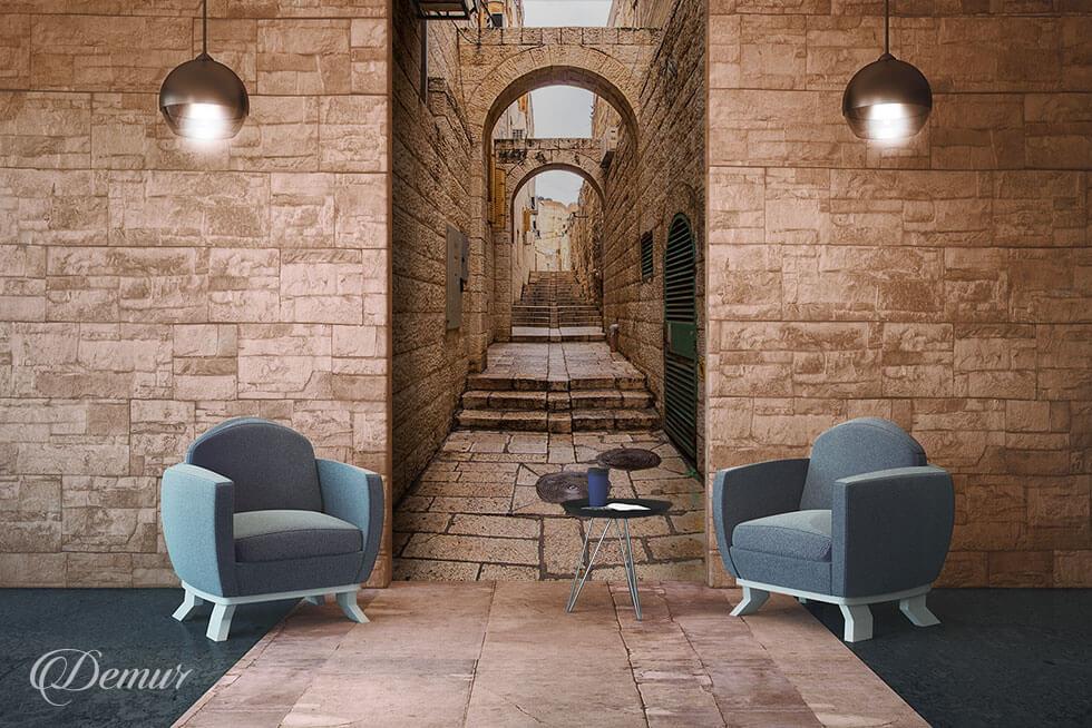 Fototapeta Starożytną aleją po Jeruzalem - Fototapeta 3D - Demur