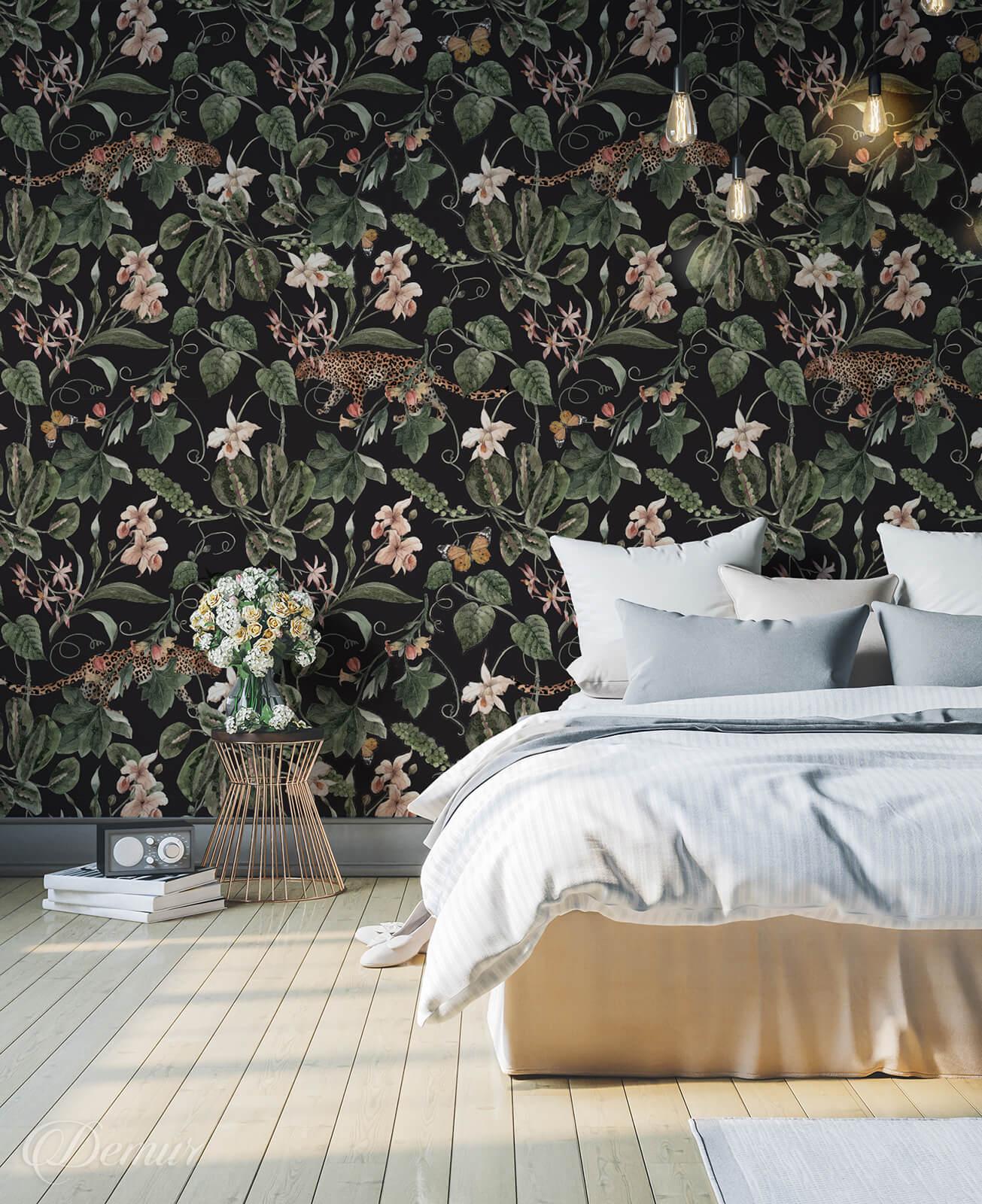 Tapeta Prywatna dżungla - Tapety do sypialni - Demur