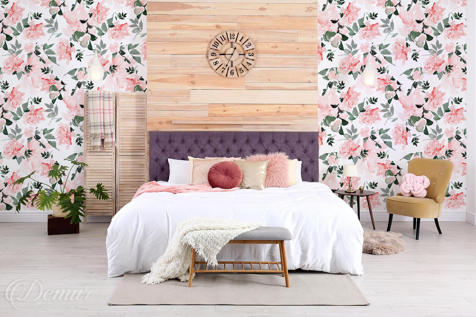 Tapeta Pastelowe róże - Tapety do sypialni - Demur