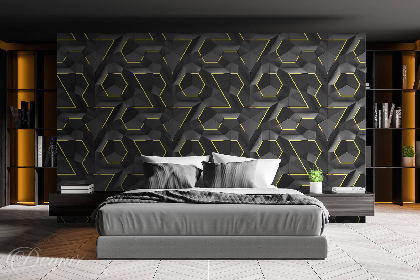 Tapeta Geometryczna przyszłość - Tapety do sypialni - Demur