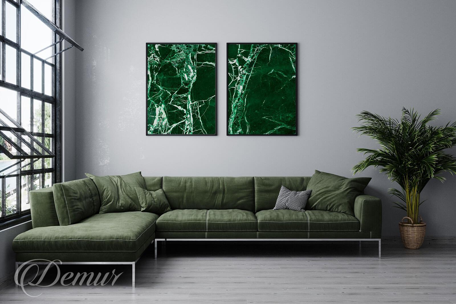 Plakat Zielona podróż - Plakaty w ramie - Demur