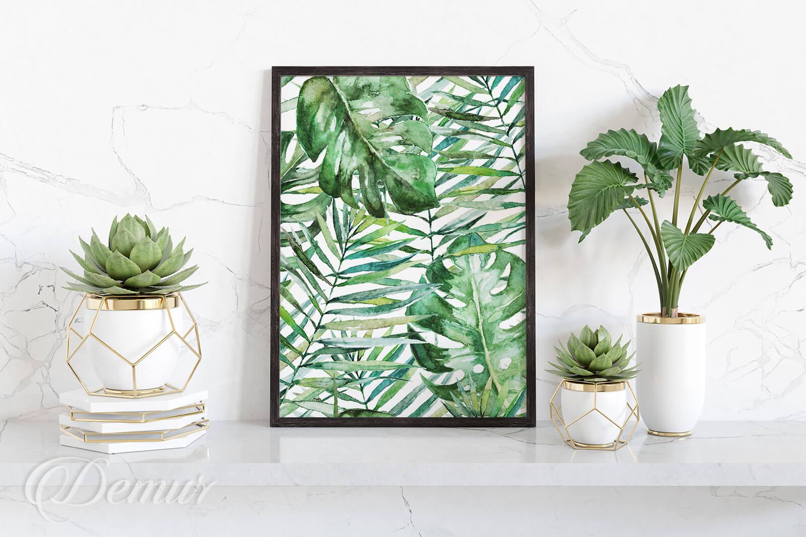 Plakat Zielone rośliny - Plakaty w ramie - Demur