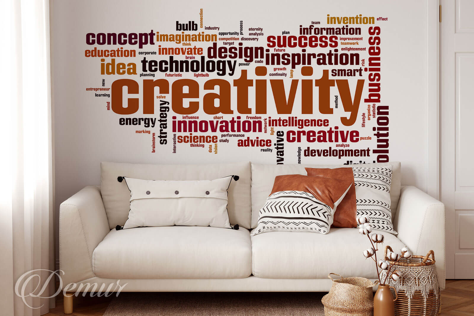 Fototapeta Kreatywność to podstawa - Fototapety z napisami - Demur