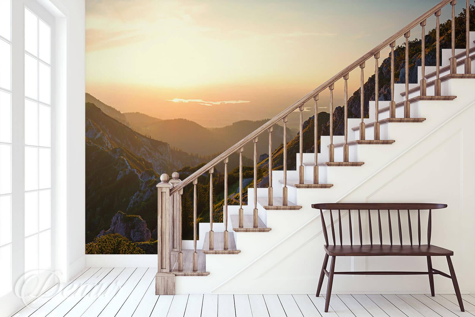 Fototapeta Górski wschód słońca - Fototapety na klatce schodowej - Demur