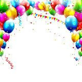 Birthday balloons isolated on white background  Fototapety do Przedszkola Fototapeta