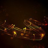 Colorful Musical Note Background  Muzyka Obraz