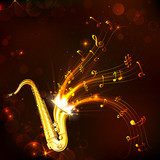 Music Tune from Saxophone  Muzyka Obraz