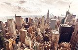 Manhattan skyline aerial view  Miasta Obraz