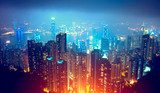 Hong Kong Night View  Miasta Obraz