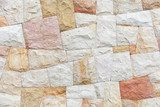 Stone wall background texture with colorful tiling pattern  Tekstury Fototapeta