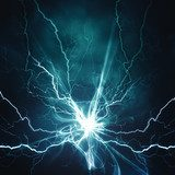 Electric lighting effect, abstract techno backgrounds for your d  Abstrakcja Fototapeta