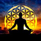 Flower of Life meditation  Orientalne Fototapeta